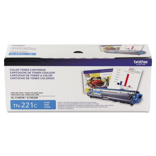 Brother TN-221C Toner Cartridge