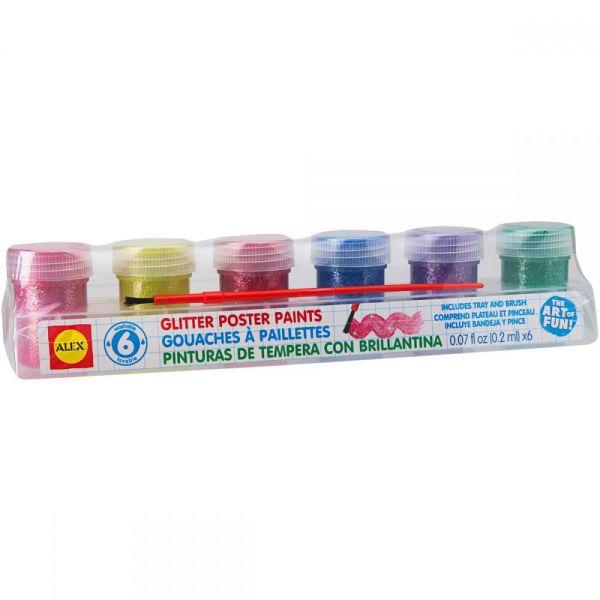 Glitter Paints 6/Pkg