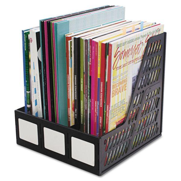 Advantus Literature File, Three Slots, Black