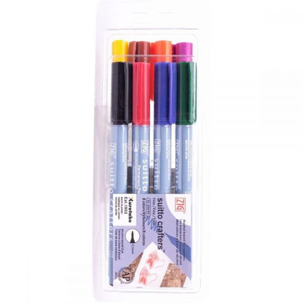 Zig Suitto Crafters Marker Set 8/Pkg