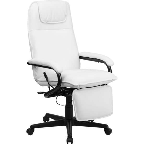 Flash Furniture High Back Executive Reclining Swivel Office Chair [BT-70172-WH-GG]