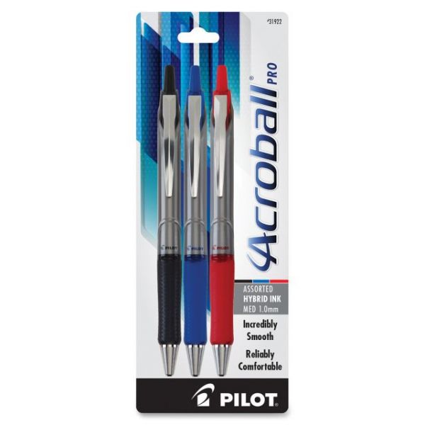 Acroball Pro Hybrid Ink Retractable Ballpoint Pens
