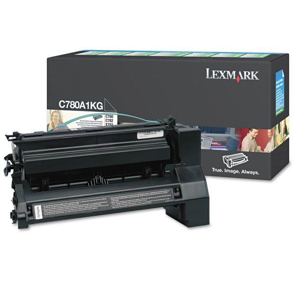 Lexmark C780A1KG Black Return Program Toner Cartridge