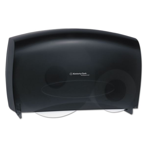 Kimberly-Clark Professional* Cored JRT Jumbo Combo Tissue Dispenser, 20 2/5w x 5 4/5d x 13 1/10h, Smoke/Gray