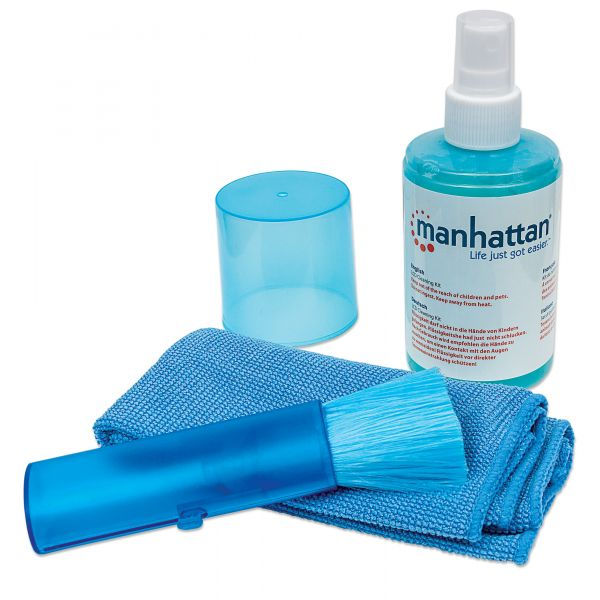 Manhattan LCD Cleaning Kit with Microfiber Cloth and Brush