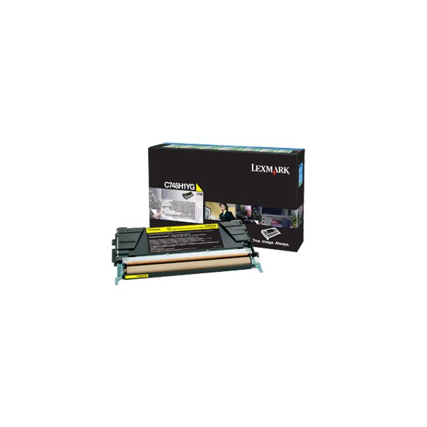 Lexmark C748H1YG Yellow High Yield Return Program Toner Cartridge