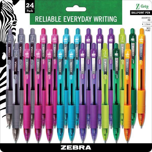 Zebra Z-Grip Retractable Ballpoint Pens