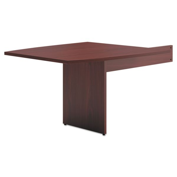 basyx BL Laminate Series Boat-Shaped Modular Table End, 48 x 44 x 29 1/2, Mahogany