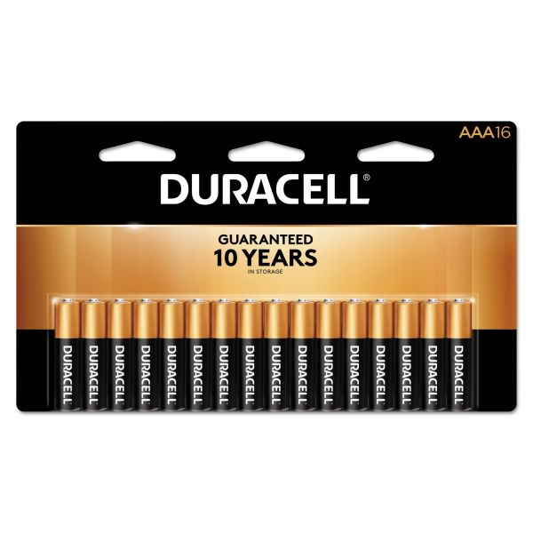 Duracell CopperTop Alkaline Batteries, AAA, 16/PK