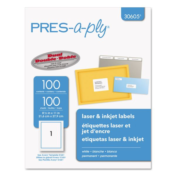 Pres-A-Ply Shipping Labels