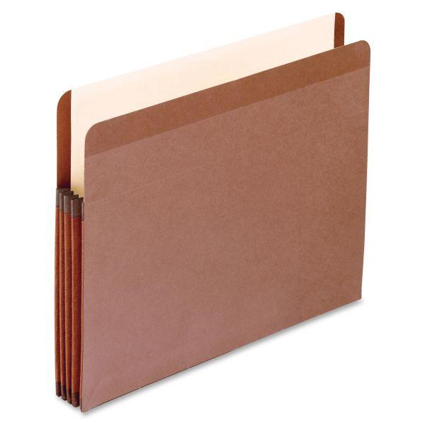 Pendaflex Premium Reinforced Expanding File Pockets, Straight Cut, 1 Pocket, Letter, Brown