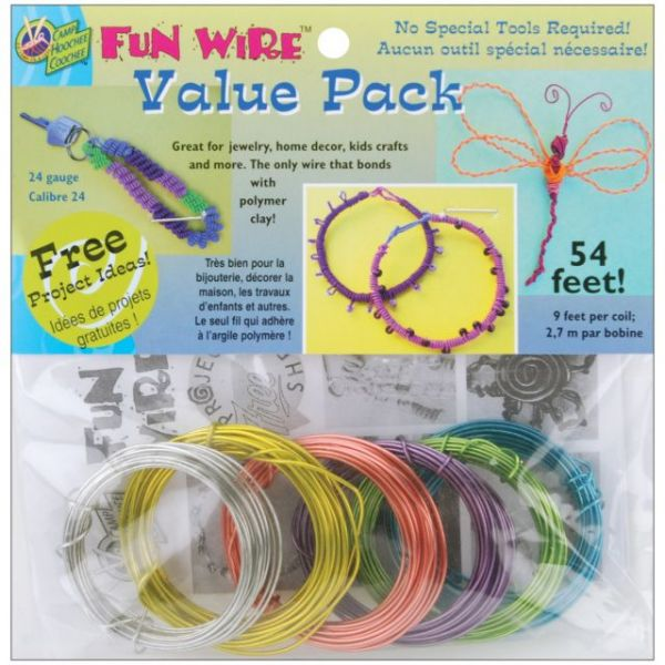Plastic Coated Fun Wire Value Pack 9' Coils