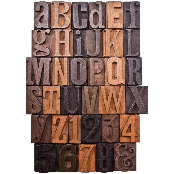 "Idea-Ology Letterpress 1"" 35/Pkg"