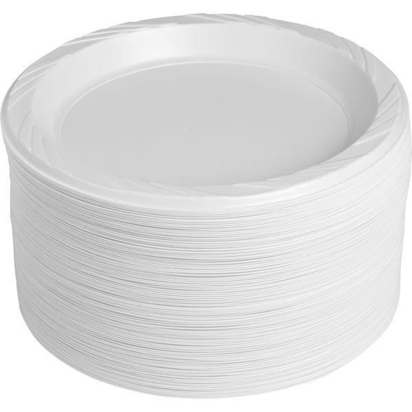 "Genuine Joe Reusable 9"" Plastic Plates"