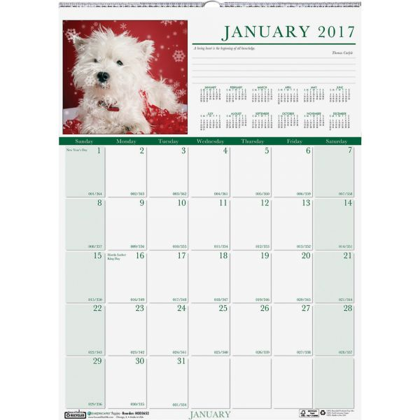 House of Doolittle Earthscapes Puppies Monthly Wall Calendar