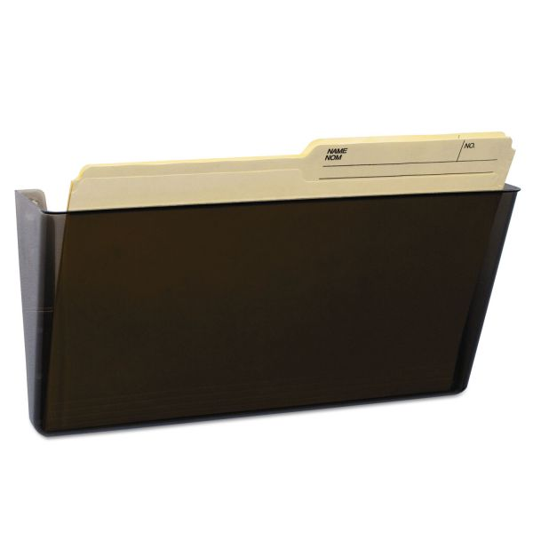 Storex Wall File, Letter, 13 x 7, Single Pocket, Smoke