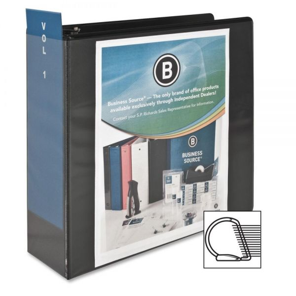 "Business Source Basic 4"" 3-Ring View Binder"