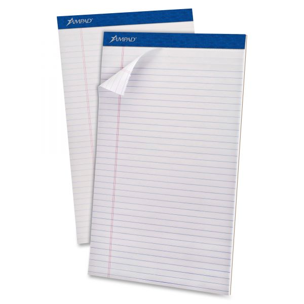 Ampad Evidence Legal-Size White Legal Pads