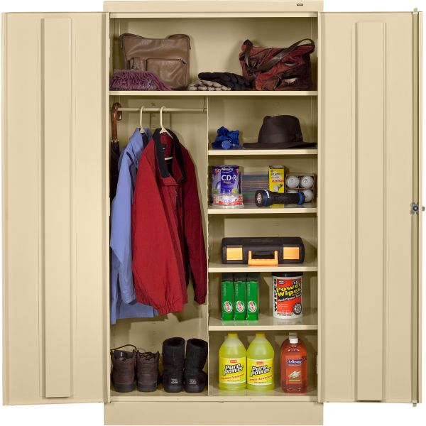 Tennsco Standard Combination Wardrobe/Storage Cabinet