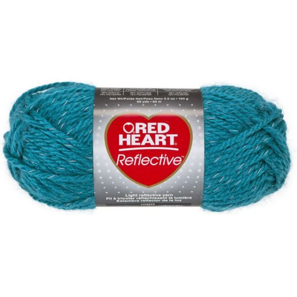 Red Heart Reflective Yarn - Peacock