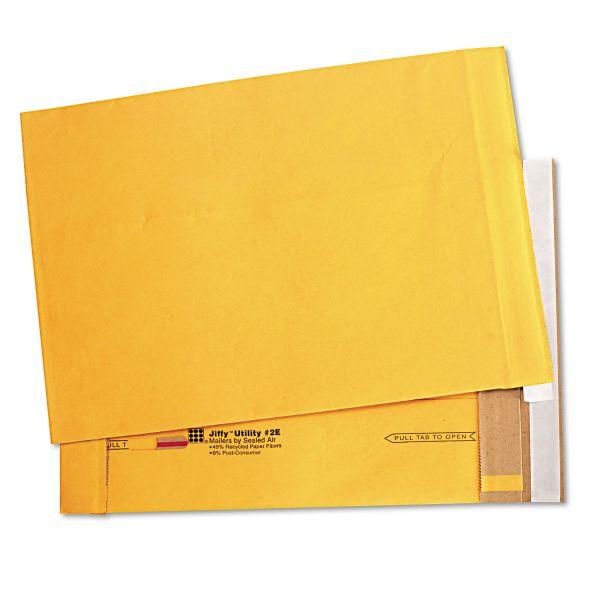 Sealed Air Utility Self Seal Mailer, #2E, 9 x 12, Natural Kraft, 100/Carton