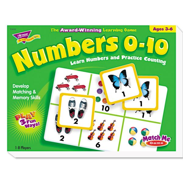 Numbers 0-10 Match Me Games
