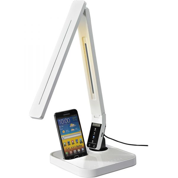 Lorell Micro USB Charger LED Desk Lamp