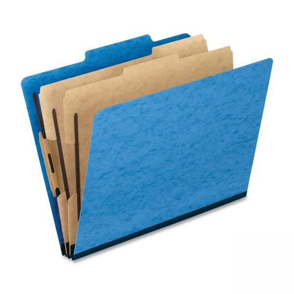 Oxford Light Blue 2-Divider Pressguard Classification Folders