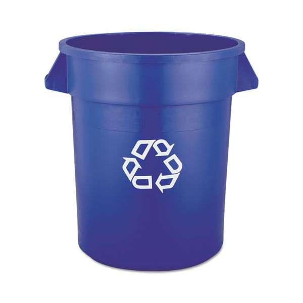 Rubbermaid Commercial Brute Recycling Container, Round, 20 gal, Blue