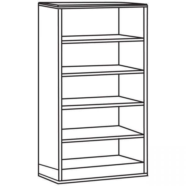 Lorell Contemporary 9000 5-Shelf Bookcase
