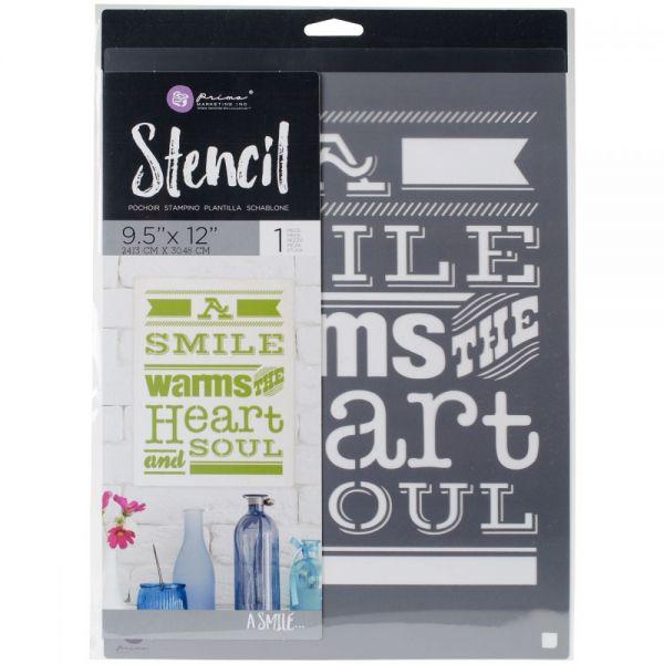 """Prima Marketing Stencil 9.5""""X12"""""""