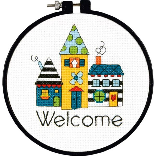 Learn-A-Craft Welcome Counted Cross Stitch Kit