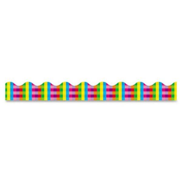 Trend Rainbow Plaid Terrific Trimmers