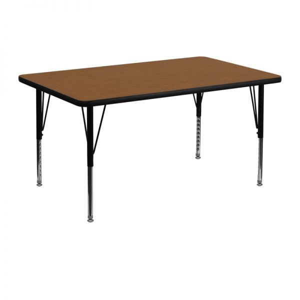 Flash Furniture Height Adjustable Rectangular Activity Table