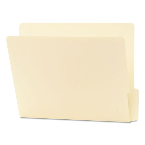 Smead Folders, 1/3 Cut Bottom, Reinforced End Tab, Letter, Manila, 100/Box