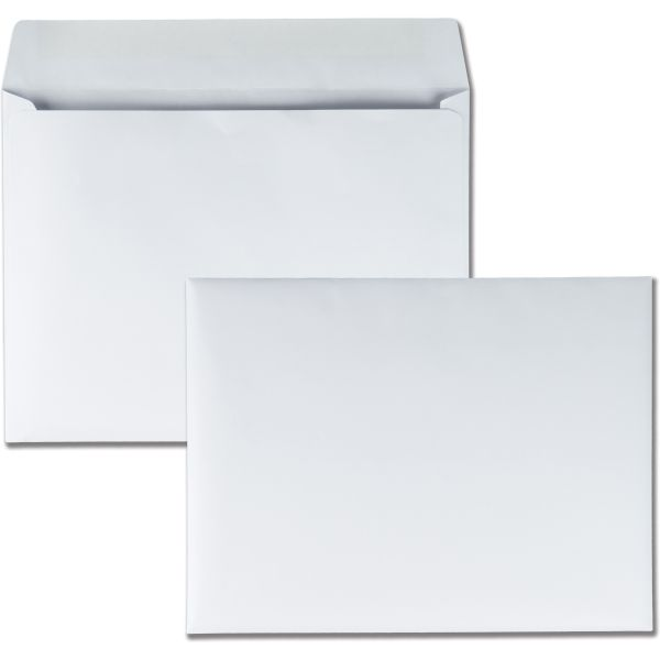 Quality Park Open Side Booklet Envelope, 9 x 12, White, 250/Box