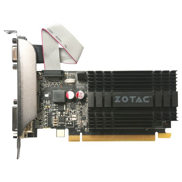 Zotac GeForce GT 710 Graphic Card - 954 MHz Core - 2 GB DDR3 SDRAM - PCI Express 2.0 - Low-profile - Single Slot Space Required