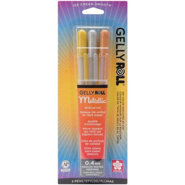 Gelly Roll Metallic Medium Point Pens