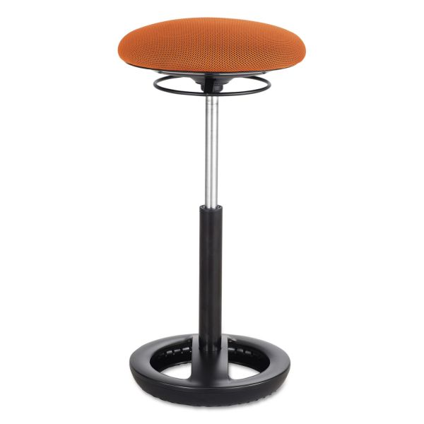 """Safco Twixt Extended-Height Ergonomic Chair, 32"""" High, Orange Fabric"""