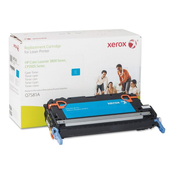 Xerox Remanufactured HP Q7581A Cyan Toner Cartridge