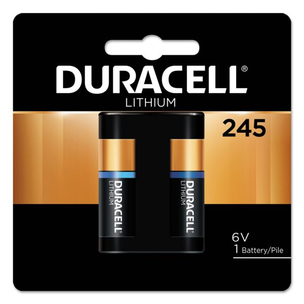 Duracell Ultra High Power Lithium Battery, 245, 6V, 1/EA
