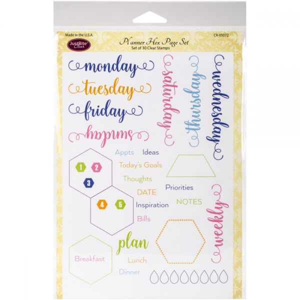 """Justrite Papercraft Clear Stamps 6""""X8"""""""