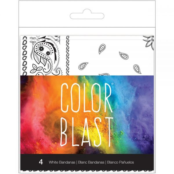 Color Blast Bandana's 4/Pkg