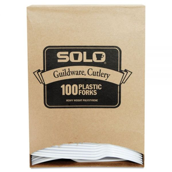 SOLO Guildware Extra Heavyweight Plastic Forks