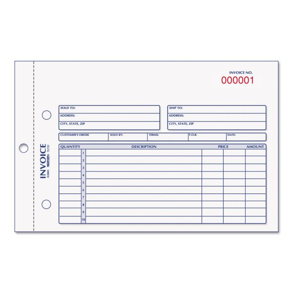 Rediform 2-Part Carbonless Invoice Form