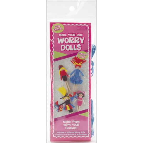 Make Your Own Worry Dolls Kit - Makes 4