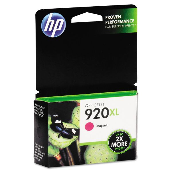 HP 920XL, (CD973AN) High Yield Magenta Original Ink Cartridge