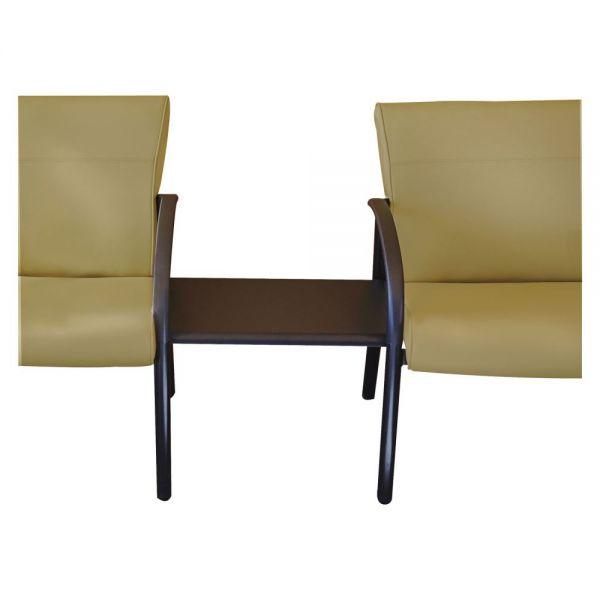 La-Z-Boy Contract Gratzi Reception Series Ganging Table, 23w x 16-1/2d x 16-1/2h, Black