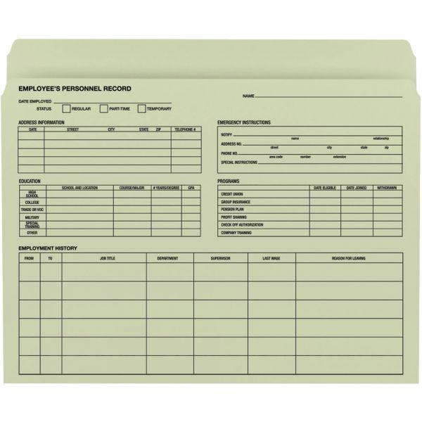 Smead 77000 Moss Employee Record File Folders