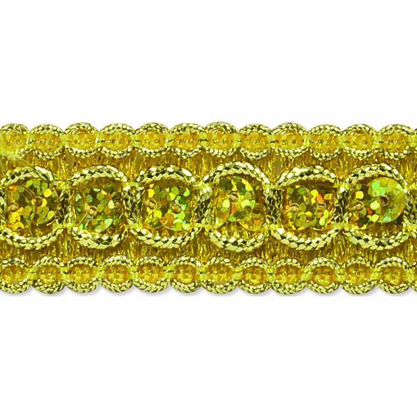 """Trish Sequin Metallic Braid Trim 7/8""""X9'"""